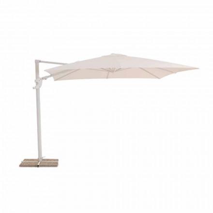 Parasol de jardin, conception de tissu déperlant 3x3 - Vulcano par Talenti