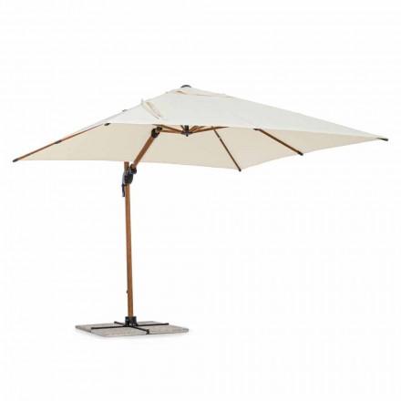 Parasol d'extérieur, 3x3 en aluminium avec housse en polyester beige - Leano