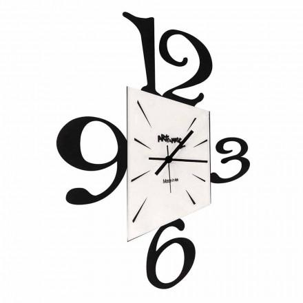 Horloge Murale Design en Fer Noir ou Aluminium Fabriquée en Italie - Prospi