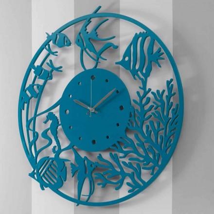Grande Horloge Murale Moderne en Bois Ronde Colorée - Infondoalmar