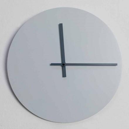 Horloge murale ronde de design moderne gris et bleu Made in Italy - Umbriel