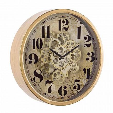 Horloge Murale Ronde Diamètre 46,5 cm en Acier et Verre Homemotion - Rando