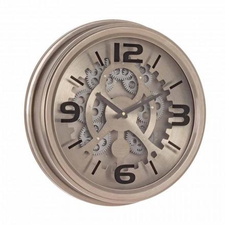 Horloge murale de style classique en acier et MDF Homemotion - Brut