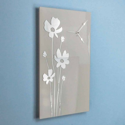 Horloge Murale Design Rectangulaire Marron et Plexiglas - Silene