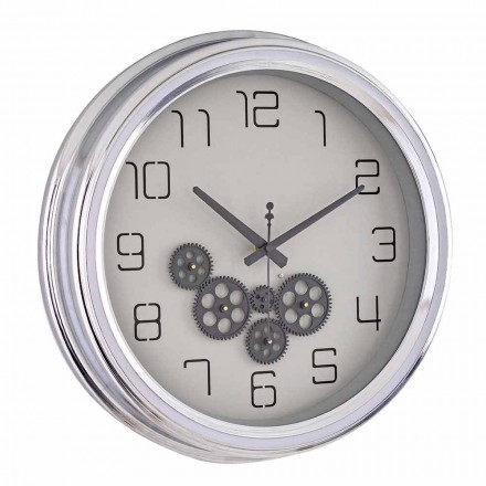 Horloge Murale Design Vintage avec Structure en Acier Homemotion - Gimbo