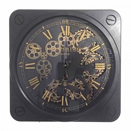 Horloge Murale Design Vintage en Acier Forme Carrée Homemotion - Curzio