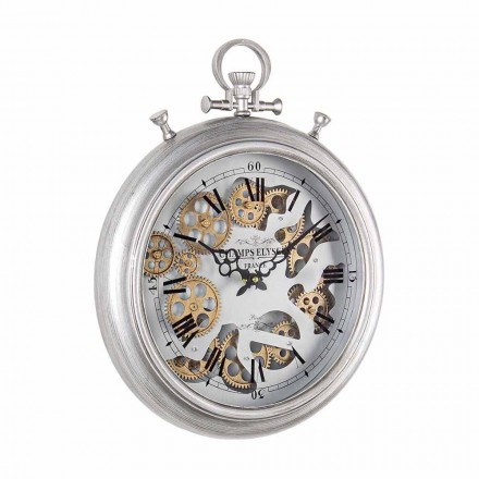 Horloge Murale en Acier et Verre Design Vintage Homemotion - Gringo