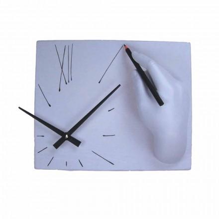 Horloge Murale Artisanale en Résine Décorée Made in Italy - Vignoble