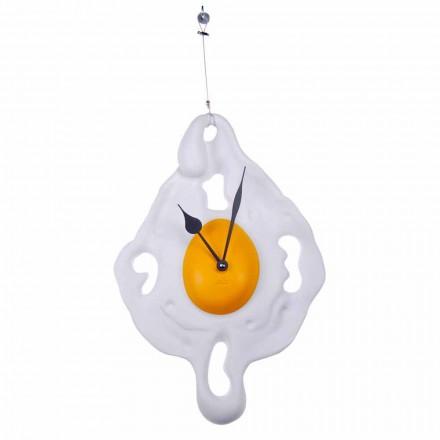 Horloge Murale Design Oeuf en Résine Peinte à la Main Fabriquée en Italie - Eggo
