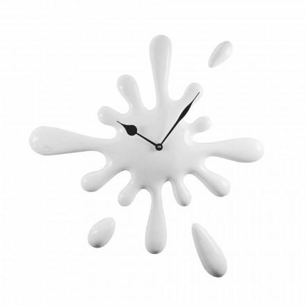 Horloge Murale Design Moderne à la Main en Résine Made in Italy - Citron