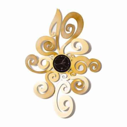 Horloge murale design moderne en fer fabriqué en Italie - Noel