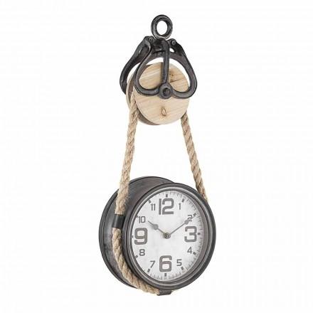Horloge Murale Design Vintage en Acier et Verre Homemotion - Edvige