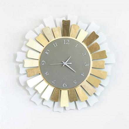Horloge Murale Moderne Circulaire en Fer Bicolore Fabriquée en Italie - Lussuria