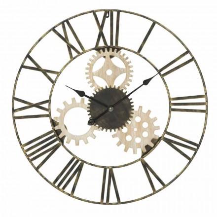Horloge Murale Ronde Diamètre 70 cm Design Moderne en Fer et MDF - Jutta