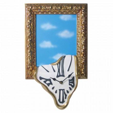 Horloge murale avec cadre photo en résine Made in Italy - Bigno