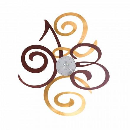 Horloge Murale Design en Fer Coloré Fabriquée en Italie - Fiordaliso