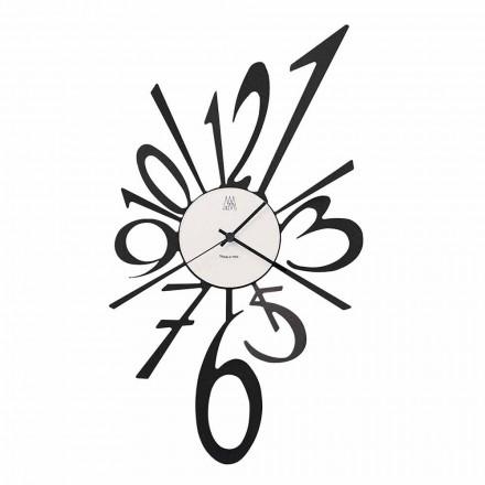 Horloge Murale Design en Fer Noir ou Aluminium Fabriquée en Italie - Oceano