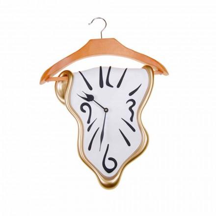 Horloge murale design en résine peinte à la main Made in Italy - Mailo