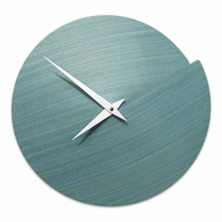 Horologe Murale de Design Moderne en Bois Naturel Made in Italy – Cratere