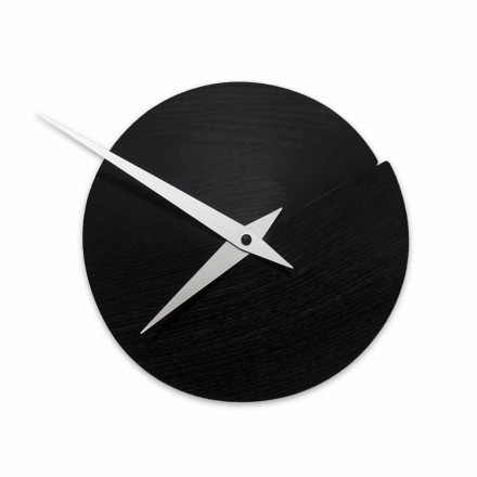 Horologe Murale Ronde Diamètre 19,5 cm en Bois Made in Italy – Cratere