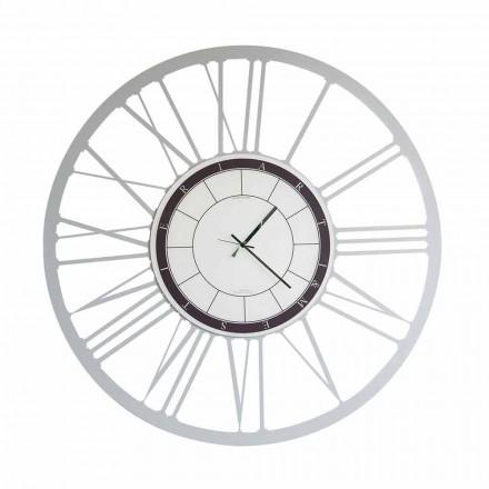 Grande Horloge Murale Moderne en Fer Fabriquée en Italie - Einar