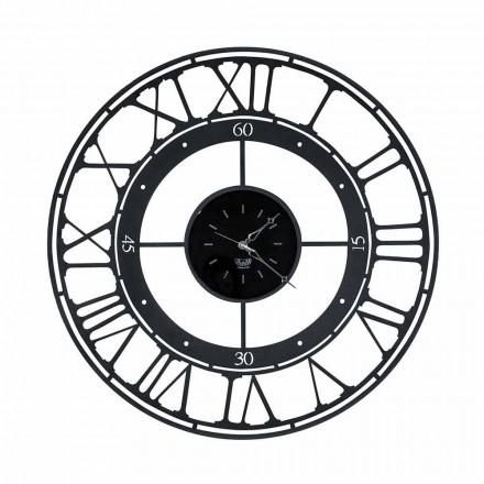 Horloge Murale Style Classique en Fer Coloré Fabriquée en Italie - Couleur