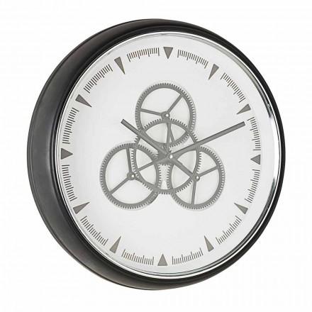 Horloge Murale Diamètre 50 cm en Acier et Verre Homemotion - Severio