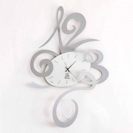 Horloge Murale en Fer Noir, Aluminium ou Rouge Fabriquée en Italie - Rosbif