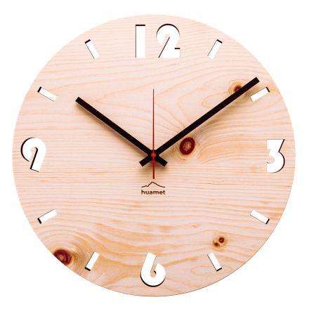 Horloge murale de design moderne en bois de pin cembrot Andrea