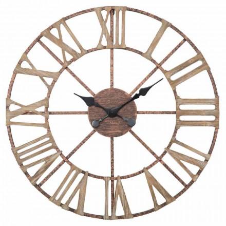 Horloge Murale Moderne Diamètre 71,5 cm en Fer et MDF - Carcans