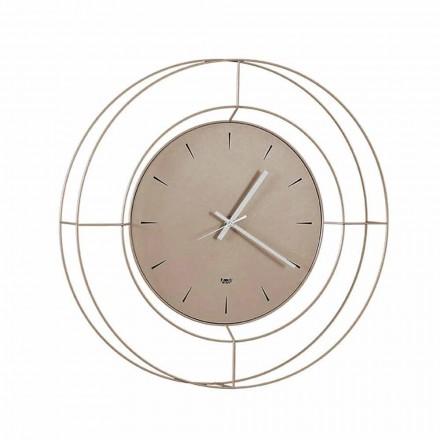 Horloge Murale Moderne en Acier Coloré Fabriquée en Italie - Adalgiso