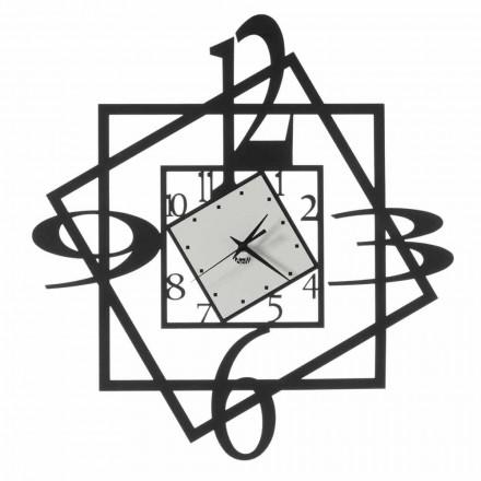 Horloge murale moderne en fer design géométrique Made in Italy - Procida