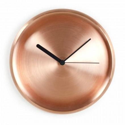 Horloge Murale Ronde en Cuivre Poli Design Made in Italy - Ogio