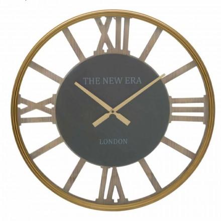 Horloge Murale Ronde Diamètre 60 cm de Design en MDF - Krizia