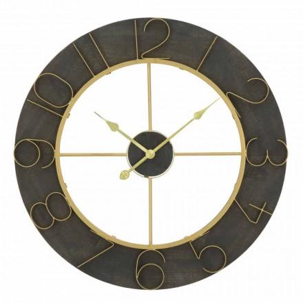 Horloge Murale Ronde Diamètre 70 cm Design Moderne en Fer et MDF - Tonia