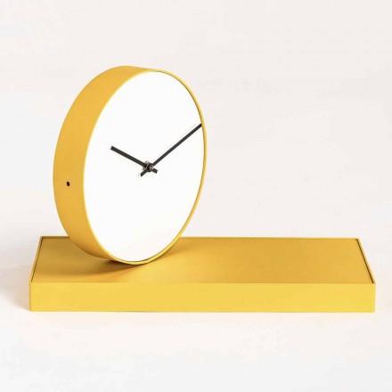 Horloge de table pivotante avec miroir en acier Made in Italy - Meritorious