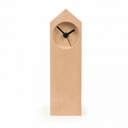 Horloge de table moderne en bois d'érable évaporé fabriqué en Italie - Érable