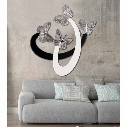 horloge de design mural ivoire noir faite main en italie zenia. Black Bedroom Furniture Sets. Home Design Ideas