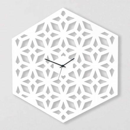 Grande horloge murale en bois design gris tourterelle blanc ou vert - Tarto