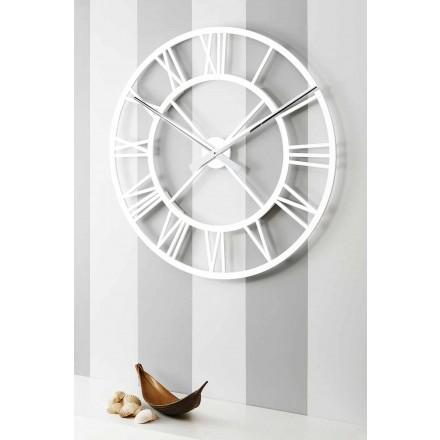 Grande Horloge Murale Shabby Chic en Bois Design Vintage - Arrigo