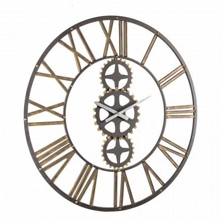 Grande horloge murale de style vintage en acier Homemotion - Mai