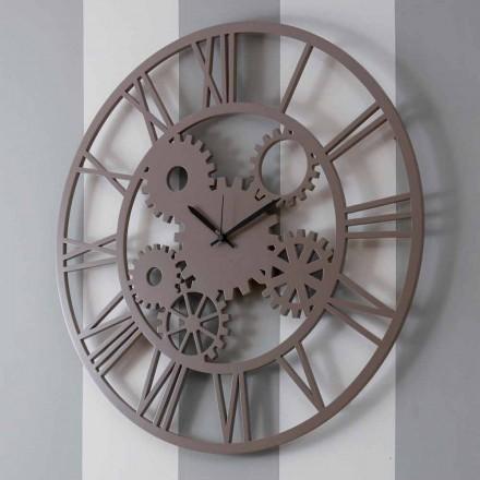 Grande horloge murale ronde en bois de couleur minable - Mécanisme