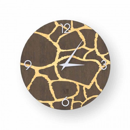 Horloge murale design moderne Acri en bois, produite en Italie