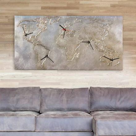 Horloge murale moderne avec cinq cadrans Miles, faite en Italie