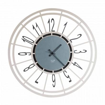 Horloge murale moderne en noisetier ou noir Fabriqué en Italie - Topino