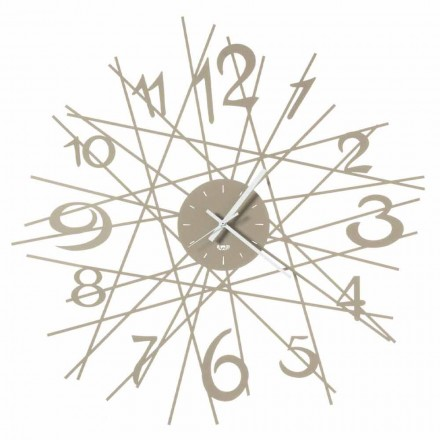 Horloge murale design ronde en fer fabriquée en Italie - Kombo