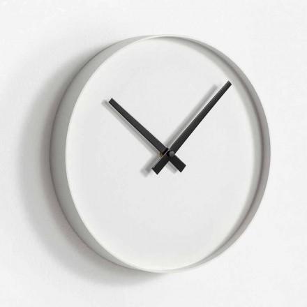 Horloge Murale Design Ronde en Métal Peint Mat - Orogio