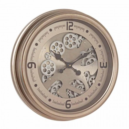 Horloge Murale Ronde en Acier et Mdf Design Classique Homemotion - Tapisserie