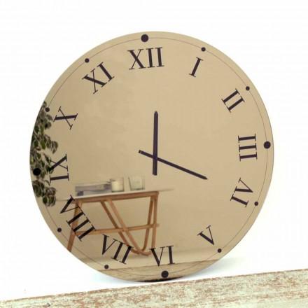 Horloge Murale Ronde en Cristal Miroir Made in Italy - Gear