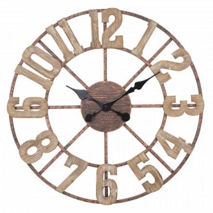 Horloge Murale Ronde Design Moderne en Fer et MDF - Taichi